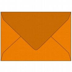 B6-Briefumschlag mit matter Oberfläche von Artoz in nektarine