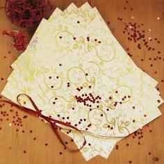 Artoz Designpapier Blätter und Ranken