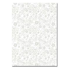 """Artoz Designpapier A4 """"Floral"""" in Silber"""