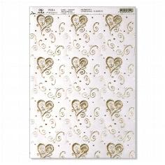 Artoz Transparentpapier A4 Dancing Heart gold