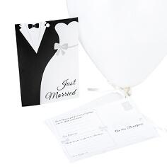 Ballonkarten Brautpaar