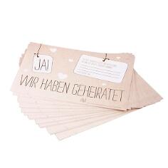 Ballonkarten in Kraftpapieroptik
