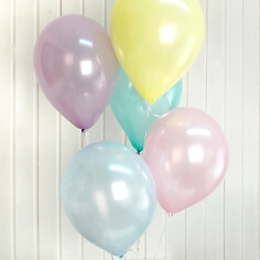 Luftballon Set, pastell, 25 St., verschiedene Farben im Set