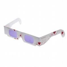 "Brille ""Love is in the Air"", rot"