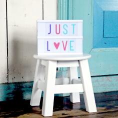 Buchstabenset für Lightbox Pastell