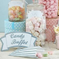 """Candy Bar Kit """"Buffet"""" für die Hochzeitsfeier"""