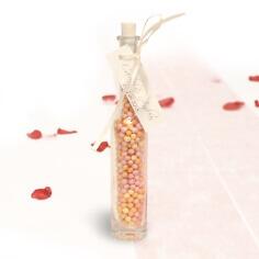 Glasfläschen für Gastgeschenke zur Hochzeit