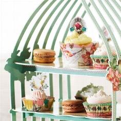 Cupcake Deko Vögel - zur Hochzeit