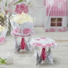 """Cupcake Ständer """"Romantic Rose"""" - Schöne Hochzeitsdeko für die Candy Bar"""