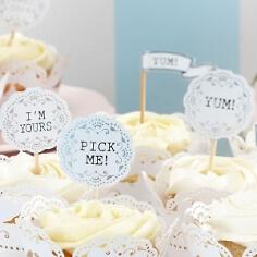 """Cupcake Sticks """" Vintage"""" zur Hochzeit"""