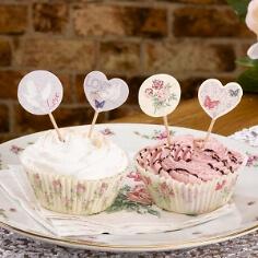 Cupcake-Sticks für die romantische Hochzeitsdeko