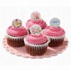 Cupcake Toppers in vier nostalgischen Designs