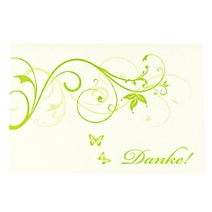 Dankeskarte Denise zur Hochzeit