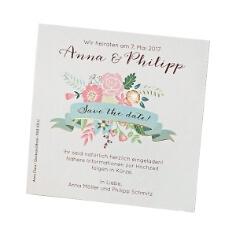 Save-the-Date-Karte zur Hochzeit mit Blütenprint
