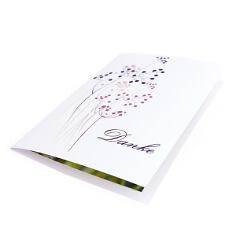 """Dankeskarte """"Purple Passion"""" zur Hochzeit - Lila"""