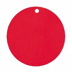 Dekoanhänger Kreis rot