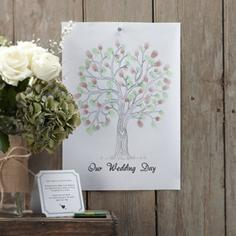 DIY Set Wedding Tree, grün-barun