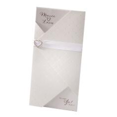 """Hochzeitseinladung """"Marry"""" in Weiß"""