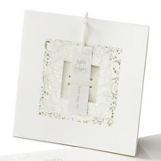 """Hochzeitseinladung """"Fabienne"""" in Weiß"""