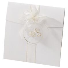 Einladung zur Hochzeit Salma in Weiß/Gold