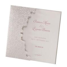 """Hochzeitseinladung """"Jasmine"""" mit Spitze"""