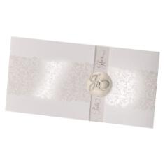 Einladungskarte zur Hochzeit Tabea in Creme