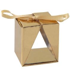 """Faltschachtel """"Cadeau"""", gold, 4 St. - Edle Faltschachtel"""