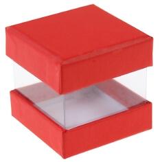 """Faltschachtel """"Pure"""", rot, 6 St. - hübsche Faltschachtel"""