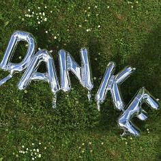 Folienballon Buchstabenset DANKE