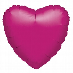 "XL-Folienballon ""Metallic-Herz"" fuchsia"