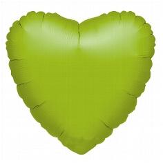 "Folienballon ""Metallic-Herz"" grün"