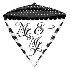 """Folienballon """"Mr.&Mr."""" Schwarz Weiß"""