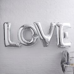 """Folienballon Schriftzug """"LOVE"""", silber"""