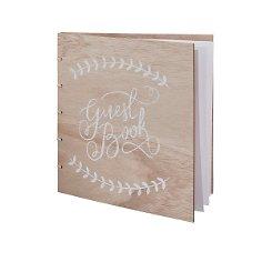Gästebuch aus Holz Vintage