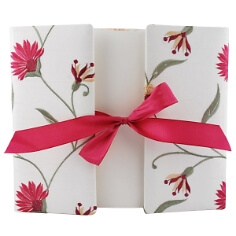 Gästebuch Florenz mit Blütenprint