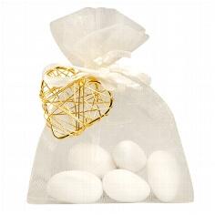 """Gastgeschenk """"Juno"""" für die Hochzeit - creme-gold"""