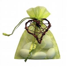 Gastgeschenk Nemesis hellgrün - mit Hochzeitsmandeln