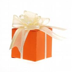 """Gastgeschenk """"Santorini"""" orange zur Hochzeit"""