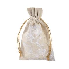 """Gastgeschenk-Säckchen Leinen """"Blütentraum"""", 4 St. - Geschenksäckchen zur Hochzeit"""