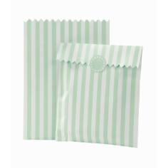 """Gastgeschenk-Tüten """"Streifen"""", 10 St., mint-weiß - hübsche Geschenk-Tüten in Mint"""