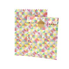Gastgeschenk-Tüten Geometric, 10 St., bunt - Bunte Geschenk-Tüte