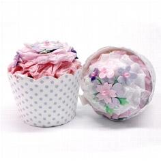 """Gastgeschenk-Box """"Cupcake"""" rosa - zur Hochzeit"""