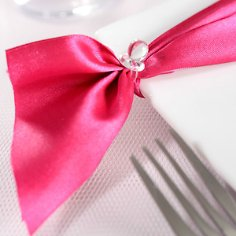 Tischband in Pink aus Satin
