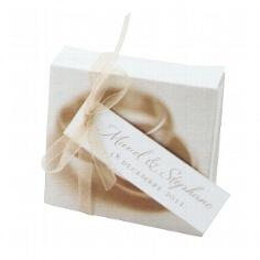Geschenkanhänger in weiß - Gastgeschenke für Hochzeit