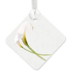"""Geschenkkärtchen """"White Calla"""" für Ihren Wunschtext"""