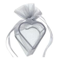 """Geschenksäckchen """"Herz"""", grau"""