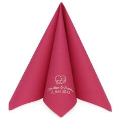 """Serviette """"Dunilin Uni"""" - pink - personalisiert"""