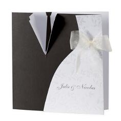 """Einladungskarte """"Alina"""" - Schwarz und Weiß"""
