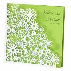 Einladung Hochzeit Dalia grün