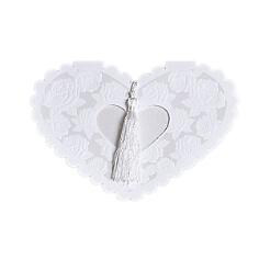 Herzförmige Hochzeitseinladung